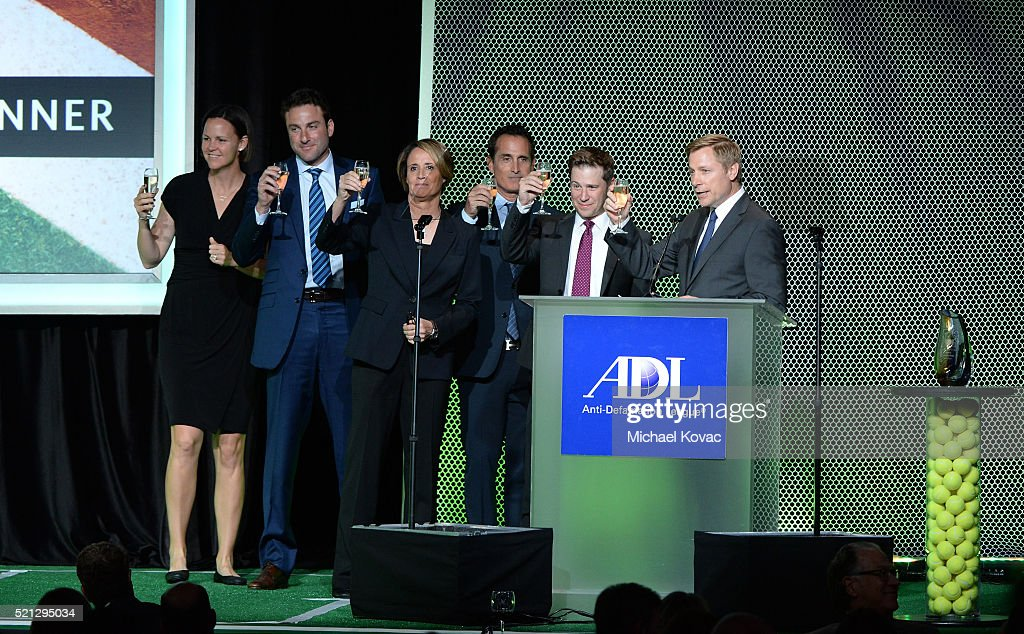 Sportscaster Andrew Krasny tennis players Lindsay Davenport Justin Gimelstob sportscasters Mary Carillo Steve Weissman and broadcaster Bill Macatee...