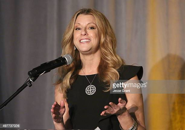 Sportscaster Bonnie Bernstein attends the National Football Foundation Leadership Hall of Fame Luncheon Honoring Casey Wasserman at UCLA's Pauley...