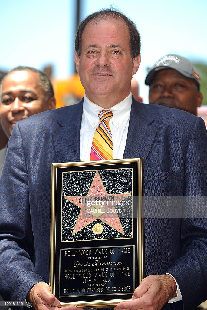 ESPN sportscaster Chris Berman poses after being honored by a Star on the Hollywood Walk of Fame on May 24, 2010 in Hollywood, California.