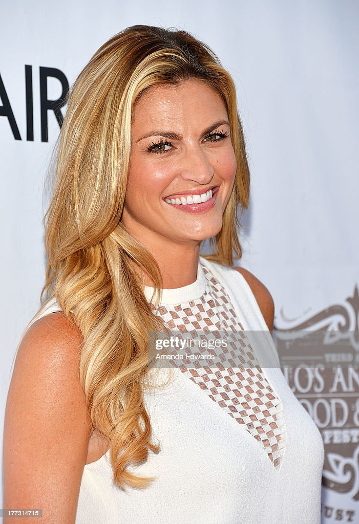 Sportscaster <a gi-track='captionPersonalityLinkClicked' href=/galleries/search?phrase=Erin+Andrews&family=editorial&specificpeople=834273 ng-click='$event.stopPropagation()'>Erin Andrews</a> arrives at the opening night of the 2013 Los Angeles Food & Wine Festival - 'Festa Italiana With Giada De Laurentiis' on August 22, 2013 in Los Angeles, California.