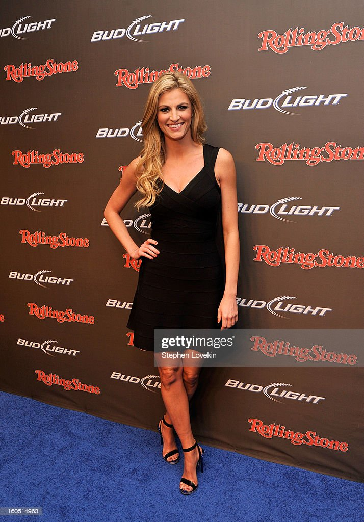 Sportscaster <a gi-track='captionPersonalityLinkClicked' href=/galleries/search?phrase=Erin+Andrews&family=editorial&specificpeople=834273 ng-click='$event.stopPropagation()'>Erin Andrews</a> arrives at the Rolling Stone LIVE party held at the Bud Light Hotel on February 1, 2013 in New Orleans, Louisiana.