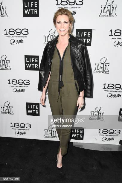 Sportscaster Erin Andrews attends LIFEWTR Art After Dark including 1893 at Club Nomadic during Super Bowl LI Weekend on February 3 2017 in Houston...