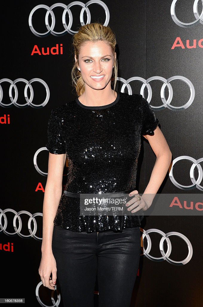 Sportscaster Erin Andrews attends the Audi Forum New Orleans at the Ogden Museum of Southern Art on February 2, 2013 in New Orleans, Louisiana.