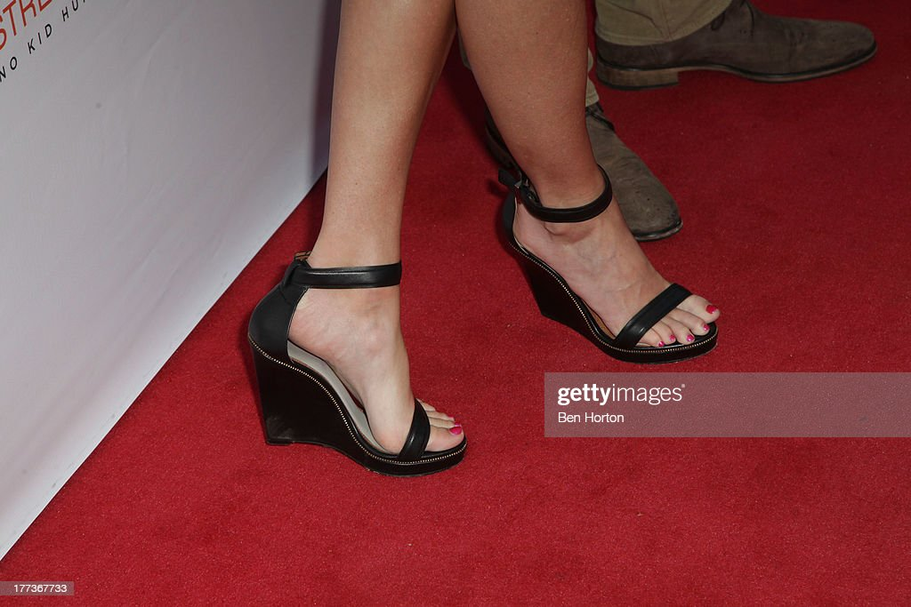 Sportscaster Erin Andrews (shoe detail) attends the Festa Italiana with Giada de Laurentiis opening night celebration of the third annual Los Angeles Food & Wine Festival on August 22, 2013 in Los Angeles, California.