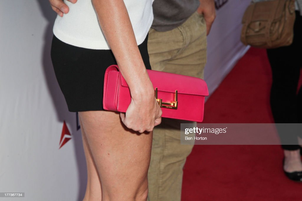 Sportscaster Erin Andrews (purse detail) attends the Festa Italiana with Giada de Laurentiis opening night celebration of the third annual Los Angeles Food & Wine Festival on August 22, 2013 in Los Angeles, California.