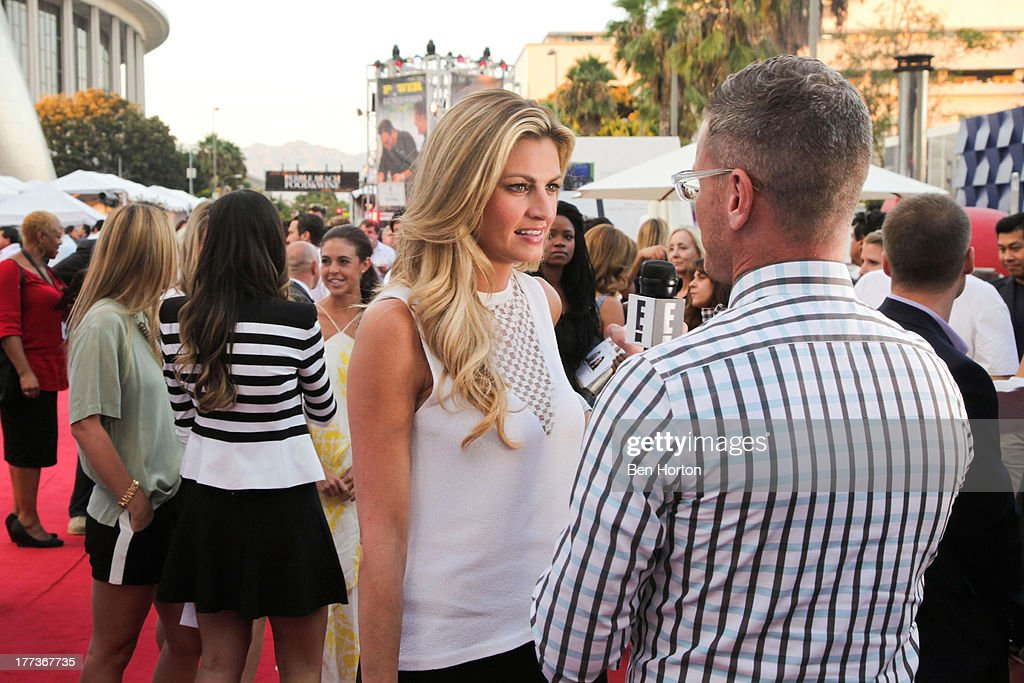 Sportscaster Erin Andrews attends the Festa Italiana with Giada de Laurentiis opening night celebration of the third annual Los Angeles Food & Wine Festival on August 22, 2013 in Los Angeles, California.