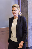 Sportscaster Erin Andrews leaves the courtroom on February 29 2016 in Nashville Tennessee Andrews is taking legal action against the operator of the...
