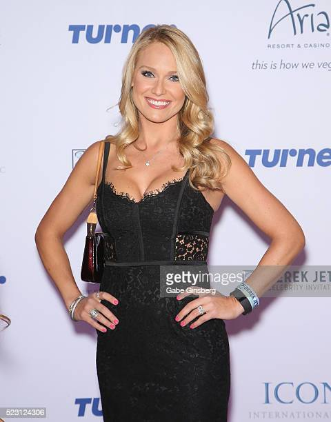 Sportscaster Heidi Watney attends the Derek Jeter Celebrity Invitational gala at the Aria Resort Casino on April 21 2016 in Las Vegas Nevada