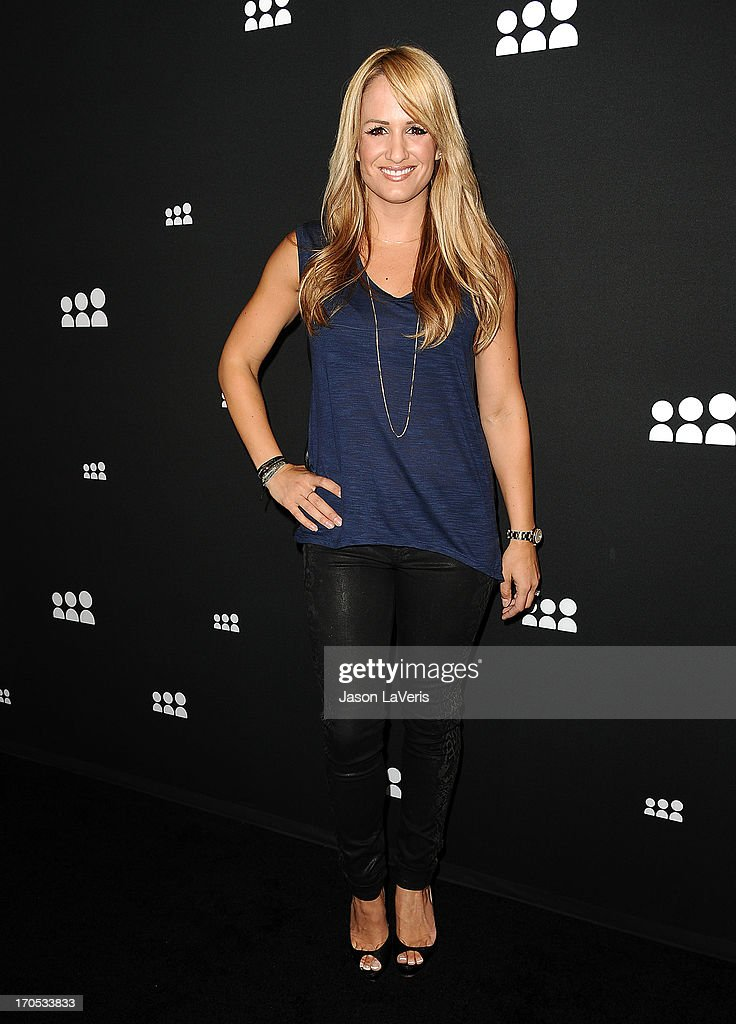 Sportscaster Jenn Brown attends the Myspace artist showcase event at El Rey Theatre on June 12, 2013 in Los Angeles, California.