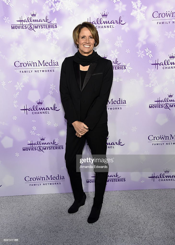Sportscaster Mary Carillo arrives at the Hallmark Channel and Hallmark Movies and Mysteries Winter 2016 TCA Press Tour at Tournament House on January...