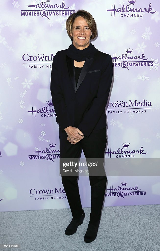 Sportscaster Mary Carillo attends the Hallmark Channel and Hallmark Movies and Mysteries Winter 2016 TCA press tour at Tournament House on January 8...