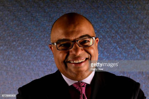 Sportscaster Mike Tirico poses for a portrait during the Team USA PyeongChang 2018 Winter Olympics portraits on April 25 2017 in West Hollywood...
