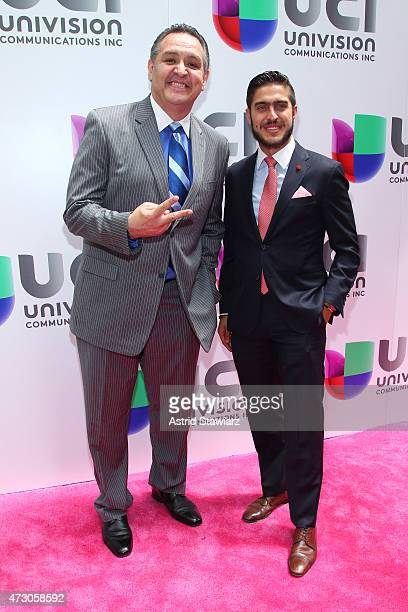 Sportscaster Pablo Ramirez and Rodolfo Landeros attend Univision's 2015 Upfront at Gotham Hall on May 12 2015 in New York City