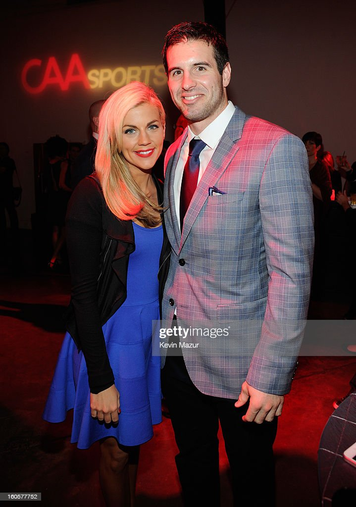 ESPN sportscaster Samantha Steele and Quarterback Christian Ponder of the Minnesota Vikings attend CAA Sports Super Bowl Party presented By LG at Contemporary Arts Center on February 2, 2013 in New Orleans, Louisiana.