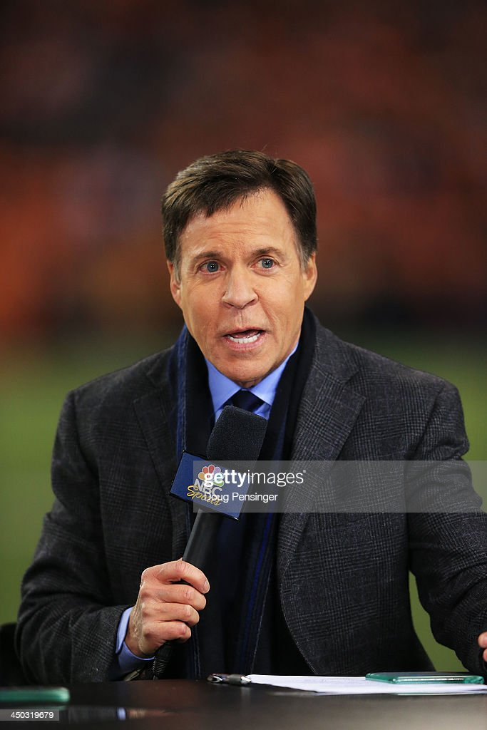 NBC sportscaster vattends the game between the Denver Broncos and the Kansas City Chiefs at Sports Authority Field at Mile High on November 17, 2013 in Denver, Colorado.