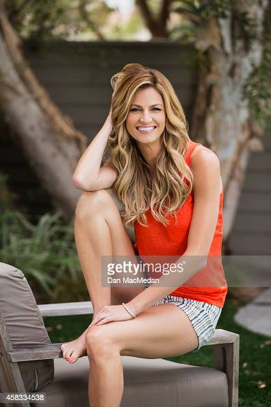 Sportscaster/TV host Erin Andrews is photographed for USA Weekend on July 18 2014 in Hermosa Beach California