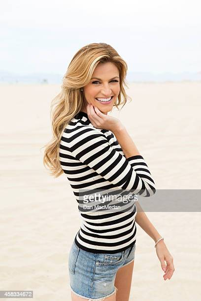Sportscaster/TV host Erin Andrews is photographed for USA Weekend on July 18 2014 in Hermosa Beach California COVER Modern Woman