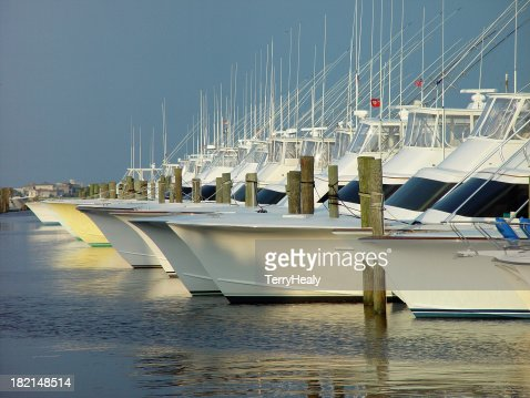 Sportsfishing Boats at sunset