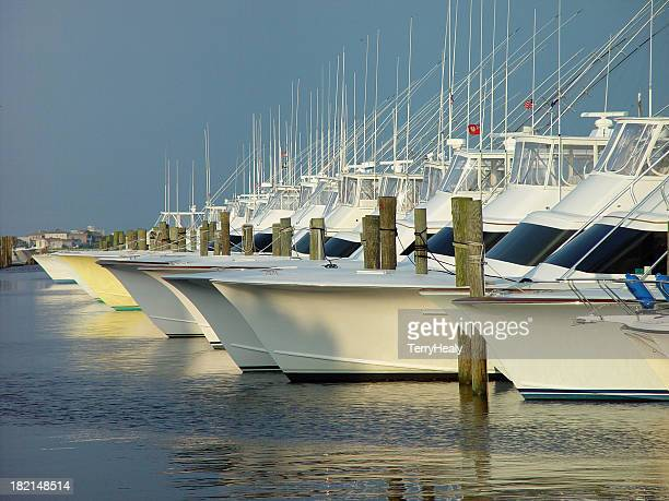 Sportsfishing Boats at sunset