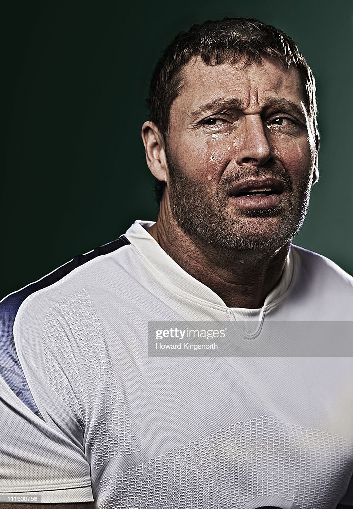 sportsman crying : Stock Photo