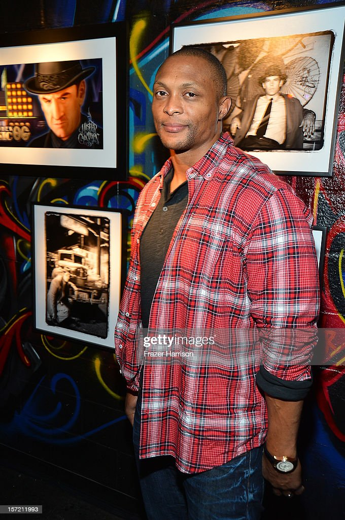 Sportsman Eddie George attends SA Studios and Mister Cartoon VIP Screening and After Party of Warner Brothers Pictures 'Gangster Squad' at SA Studios on November 29, 2012 in Los Angeles, California.