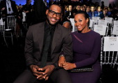 Sportsman of the Year LeBron James and Savannah Brinson attend the 2012 Sports Illustrated Sportsman of the Year award presentation at Espace on...