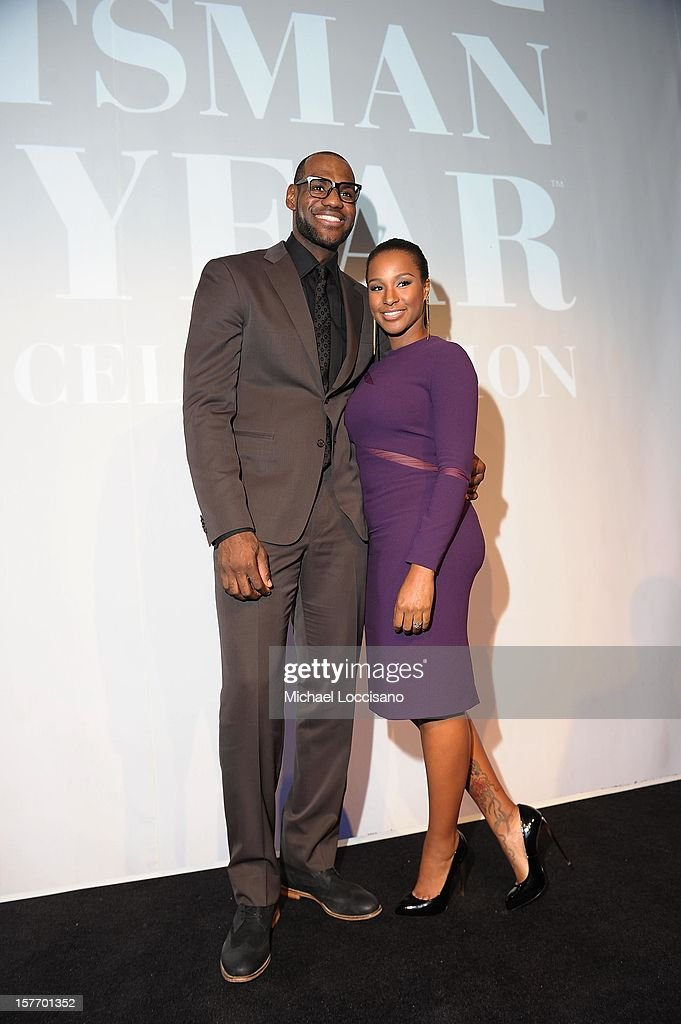 Sportsman of the Year <a gi-track='captionPersonalityLinkClicked' href=/galleries/search?phrase=LeBron+James&family=editorial&specificpeople=201474 ng-click='$event.stopPropagation()'>LeBron James</a> and <a gi-track='captionPersonalityLinkClicked' href=/galleries/search?phrase=Savannah+Brinson&family=editorial&specificpeople=4319994 ng-click='$event.stopPropagation()'>Savannah Brinson</a> attend the 2012 Sports Illustrated Sportsman of the Year award presentation at Espace on December 5, 2012 in New York City.