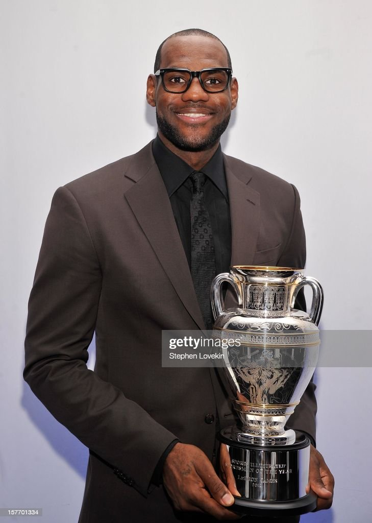 Sportsman of the Year <a gi-track='captionPersonalityLinkClicked' href=/galleries/search?phrase=LeBron+James&family=editorial&specificpeople=201474 ng-click='$event.stopPropagation()'>LeBron James</a> attends the 2012 Sports Illustrated Sportsman of the Year award presentation at Espace on December 5, 2012 in New York City.