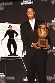 Sportsman of the Year winner golfer Tiger Woods at Sports Illustrated's 'Sportsman of the Year' award ceremony at the Beacon Theater in New York City...