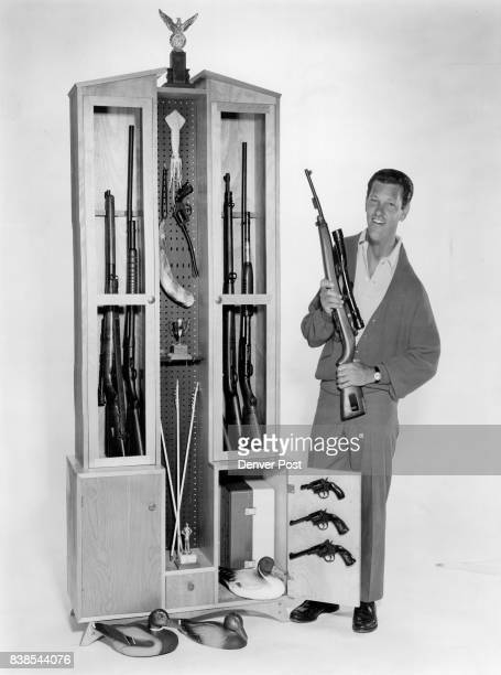 A sportsman's showcase to show off guns reefs and tackle may be made from birch plywood as shown or from knotty pine The easytofollow pattern...
