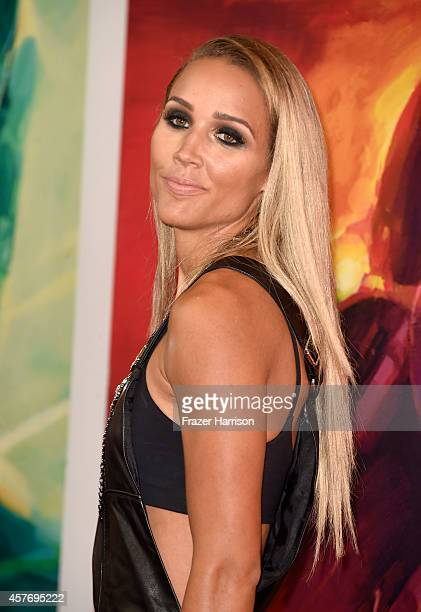 Sportswomen Lolo Jones arrives at the Premiere Of Red Bull Media House's 'On Any Sunday The Next Chapter' at Dolby Theatre on October 22 2014 in...