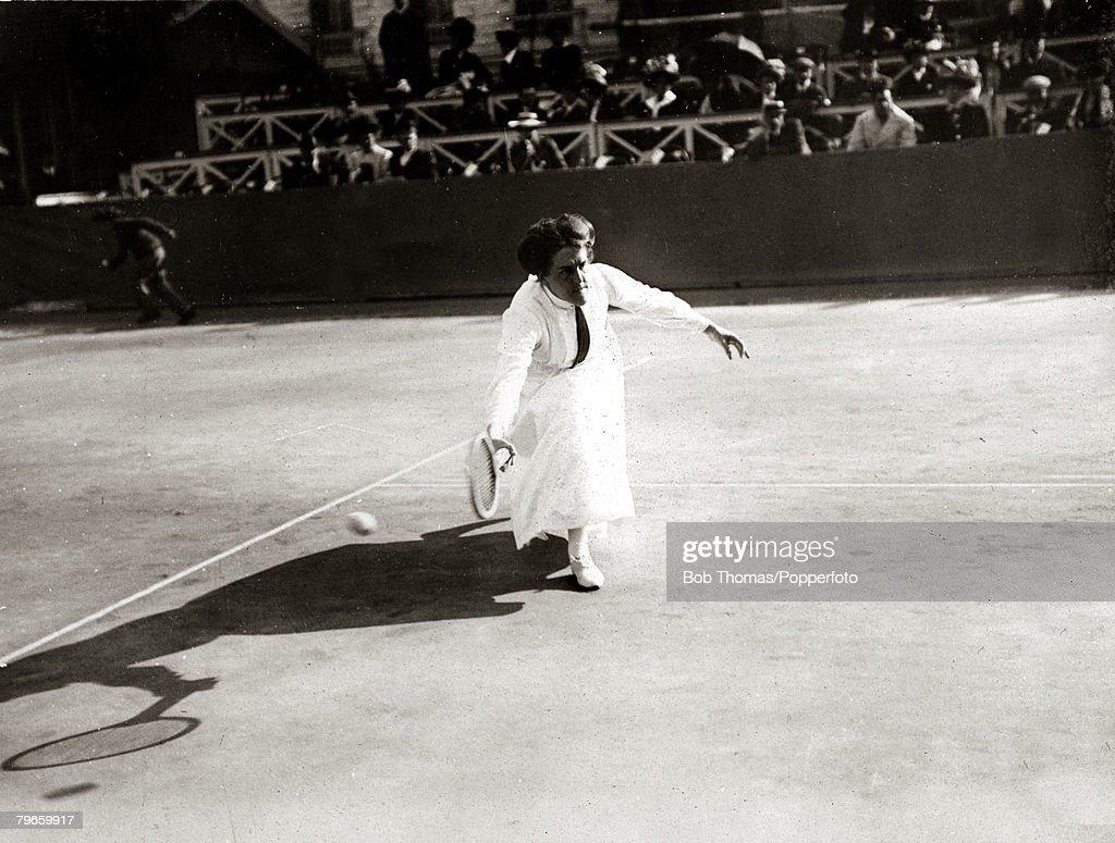 Sport Tennis France 1906 Great Britain s Dorothea Douglass
