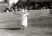 Sport/Tennis France Great Britain's Dorothea Douglass playing in the South of France She was the foremost woman player of the early the 1900's...