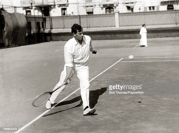 Sport/Tennis France New Zealander Tony Wilding who later in his tennis career won the Wimbledon Mens Singles title 4 times in 1910 1912 and 1913 This...