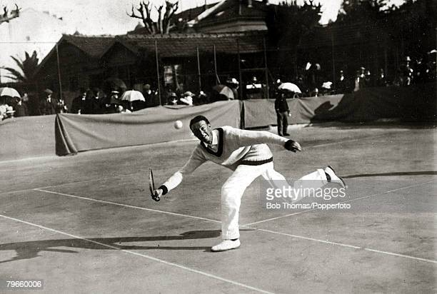 Sport/Tennis France Reggie Doherty seen playing in the South of France He won the Wimbledon Mens Singles title 18971900 inclusive and partnered his...