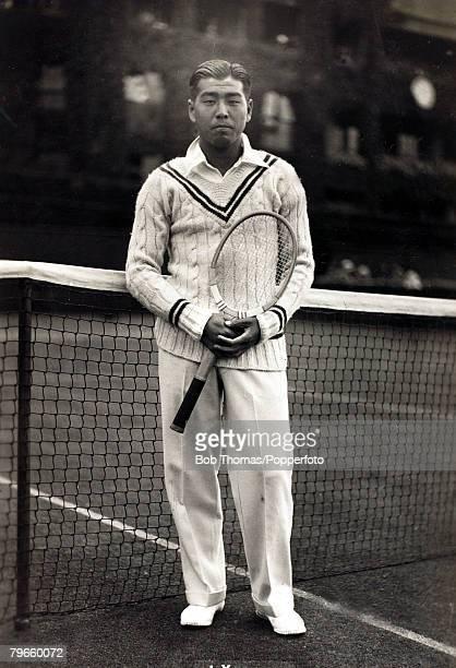 Sport/Tennis London England circa 1940 Jiro Yamagishi Japan pictured at Wimbledon