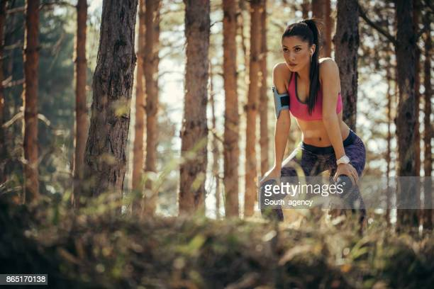 Sporty woman in nature