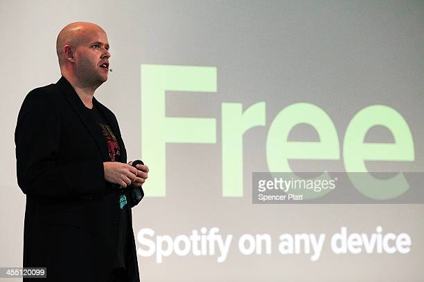 Spotify CEO Daniel Ek announces that the online streaming music service will expand to 20 new markets around the world and that it has worked out a...