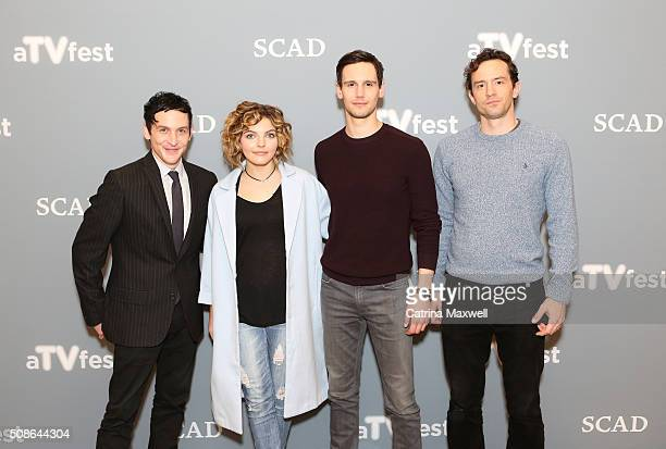 Spotlight Cast Award Recipients for 'Gotham' actors Robin Lord Taylor Camren Bicondova Cory Michael Smith and Nathan Darrow pose for a photo together...