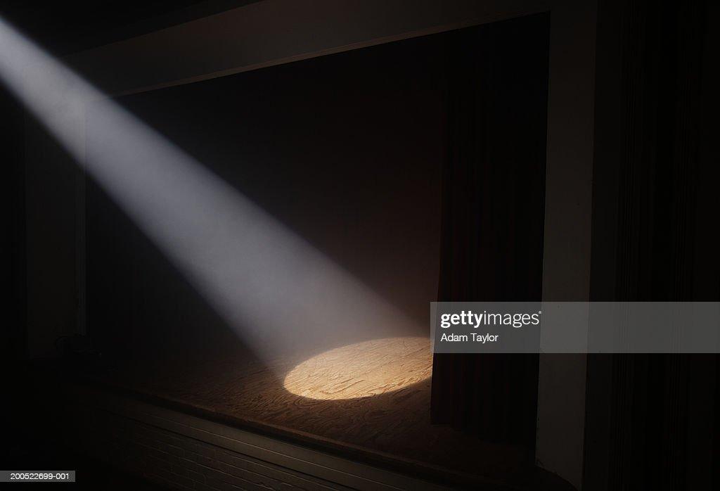 Spotlight on empty stage