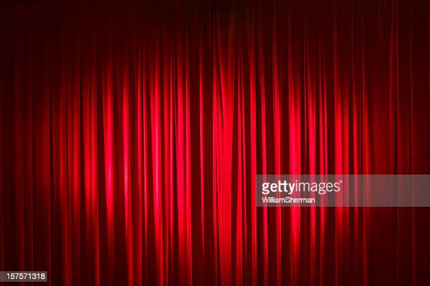 Spotlight On Red Velvet Stage Curtains