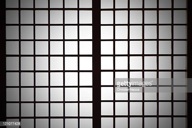 Spotlight on Shoji (Japanese paper screen partition) background