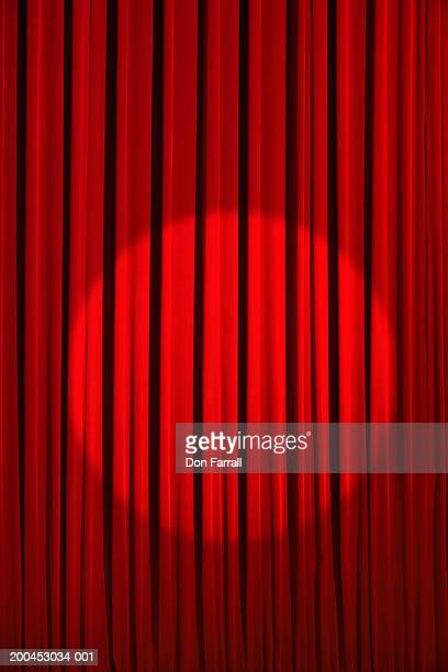 Spotlight on stage curtain, close-up