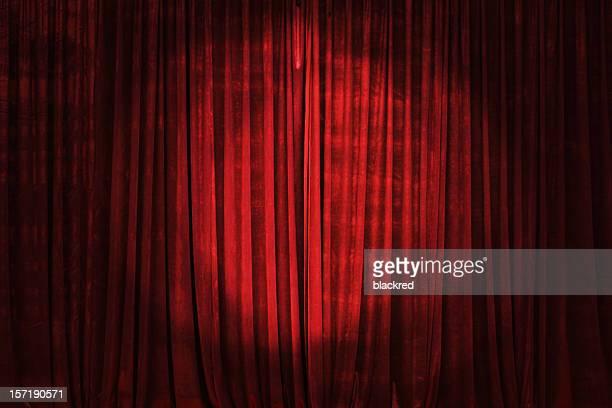 Enfoque en la cortina de escenario
