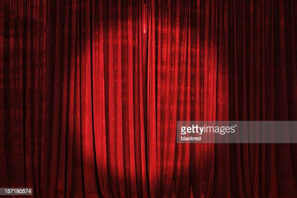 Spotlight on the Stage Curtain