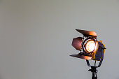 Spotlight with halogen bulb, Lighting equipment for Studio photography or videography.