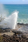 The famous Spouting Horn is located in the southern town of Poipu.