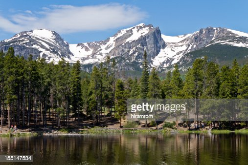 Sprauge Lake and Hallet Peak, Rocky Mountain National Park