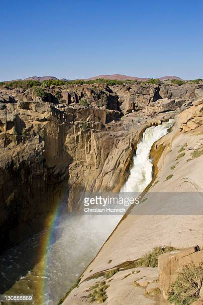Spray bow, partial rainbow formed in the bottom of the gorge at the foot of the Augrabies Falls on the Oranje River, Augrabies Falls National Park, South Africa, Africa
