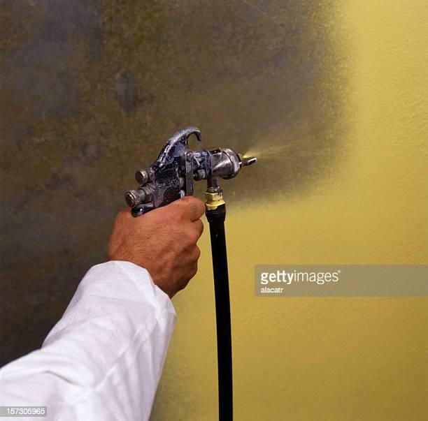 Spray Gemälde, Nahaufnahme
